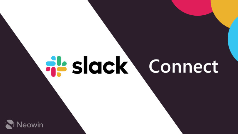 Slack logo and Slack Connect text on a white and dark purple background