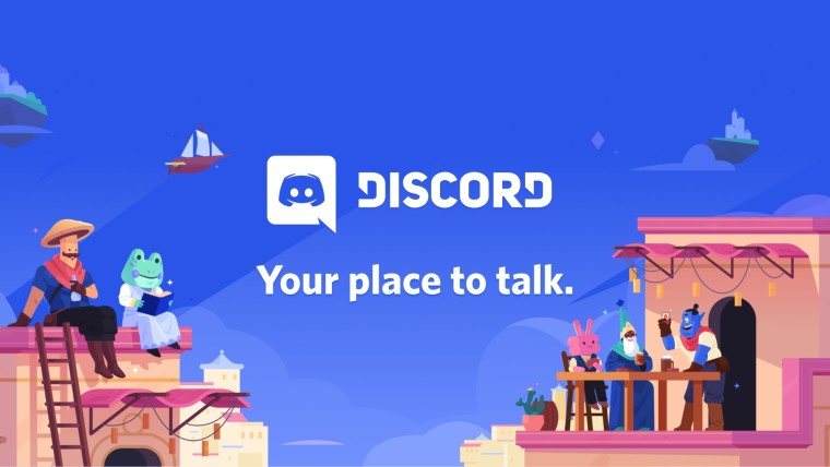 Discord logo with the slogan Your place to talk