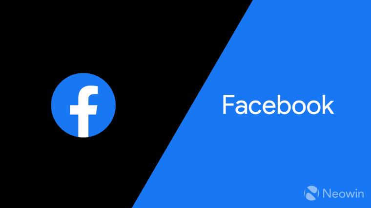 Facebook logo on a blue and black background