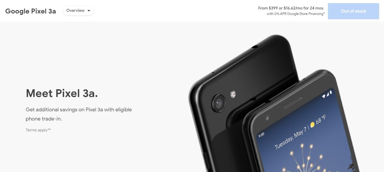Google正式停止销售Pixel 3a和3a XL