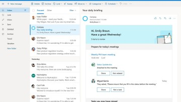 Screenshot from Outlook