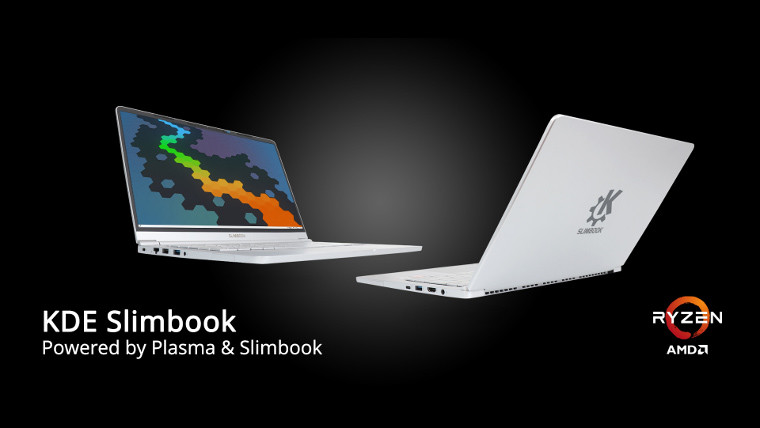 KDE Slimbook front and back view