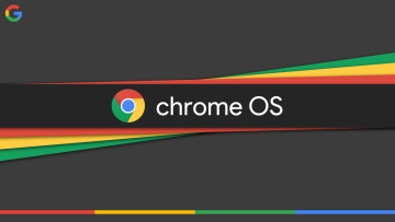 The Chrome OS logo on a multicoloured background