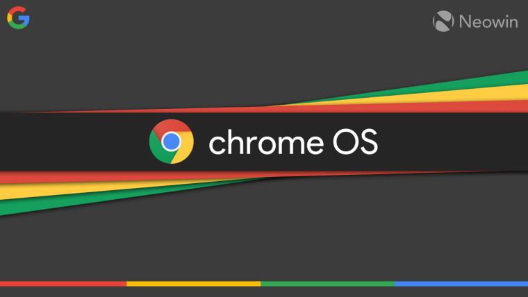The Chrome OS logo on a multicoloured background