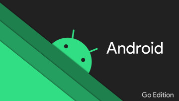 The Android logo with Android and Go Edition written