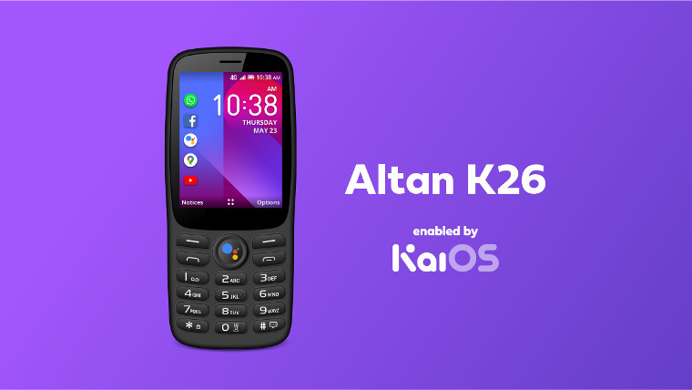 The Altan K26 on a purple background