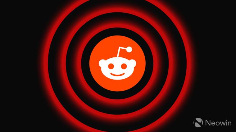 Reddit logo against red circles