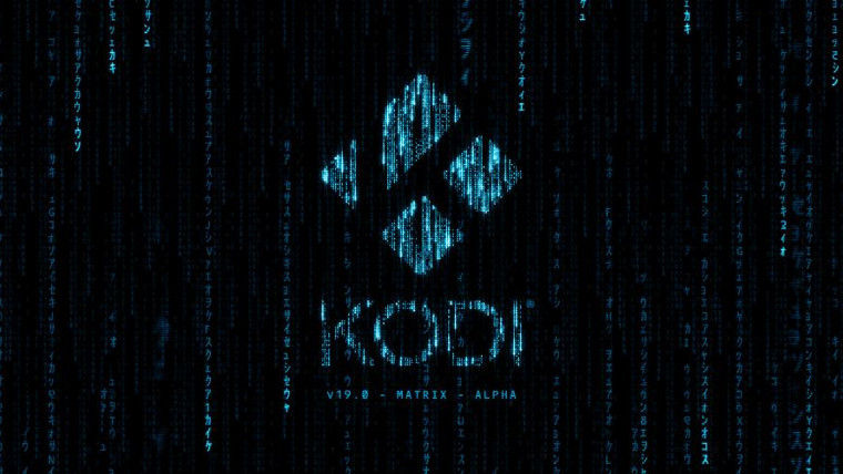 A matrix style graphic for Kodi
