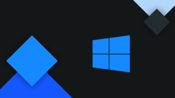 Windows 10 logo against a dark background