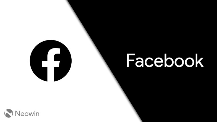 A black Facebook logo on a black and white background