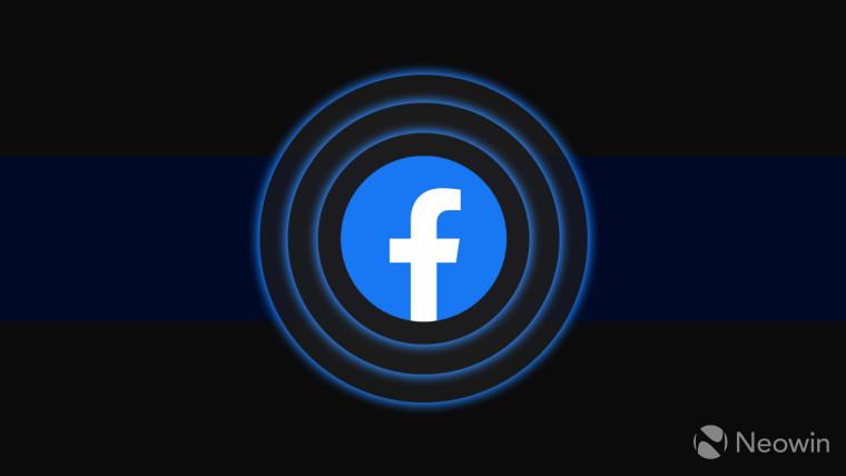 Facebook logo on a dark background