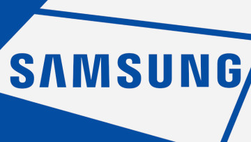 Samsung logo on a white background