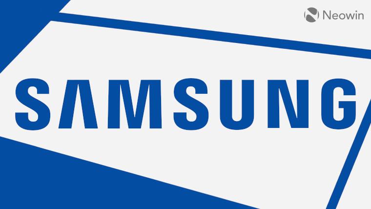 Samsung logo on a white background