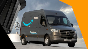 An Amazon delivery van