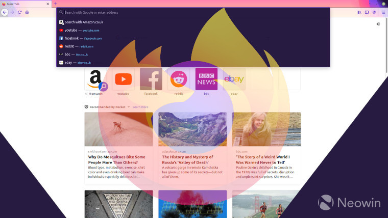 Firefox 81 using the Alpenglow theme
