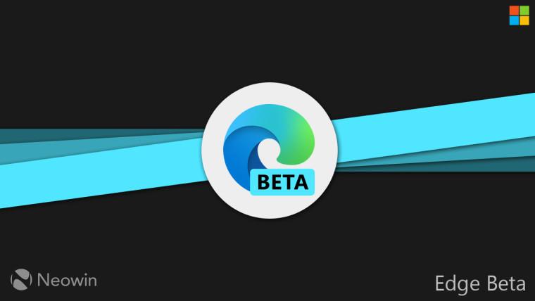 Edge Beta logo against a dark background
