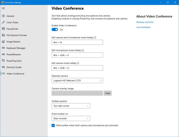 PowerToys 0.22 - funkcja wyciszania wideokonferencji