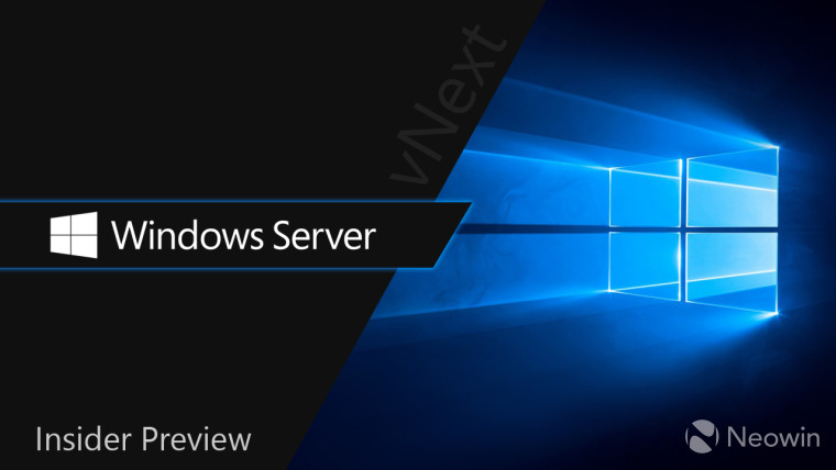 Windows 10 hero image with Windows Server Insider Preview text