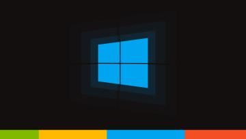 Windows 10 logo on black background