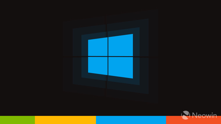 Windows 10 logo on black background