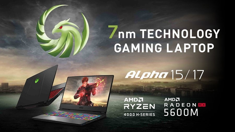 Msi Refreshes All Amd Alpha Series Laptops With A Ryzen 7 4800h Neowin