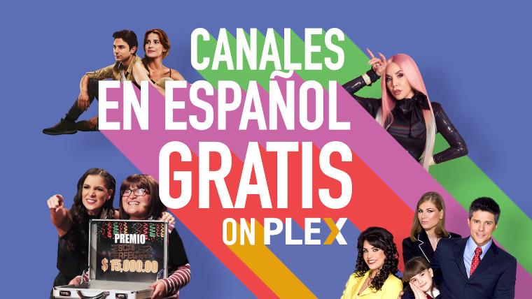 Plex graphic promoting launch of Spanish-language channels