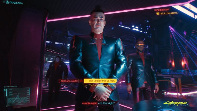 Cyberpunk 2077 screenshot of a conversation choice