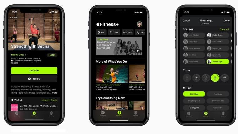 Apple Event 2020 - aplikacja Fitness+