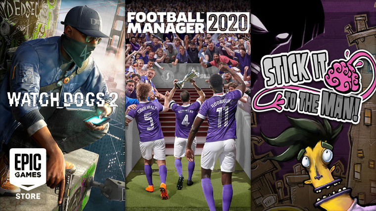 Football Manager 2020, Watch Dogs 2, and Stick It To The Man are free on Epic Games Store