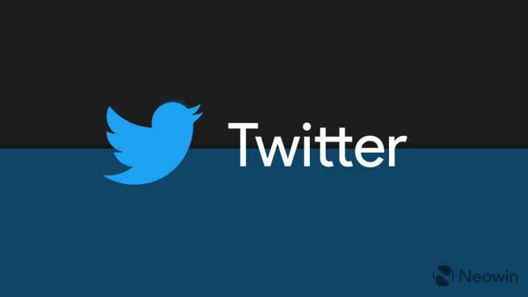 Twitter written in the center of the image with the Twitter logo next to it