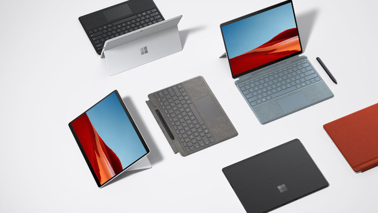 Stock picture of Surface Pro X