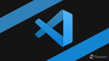 Visual Studio Code logo on a black background
