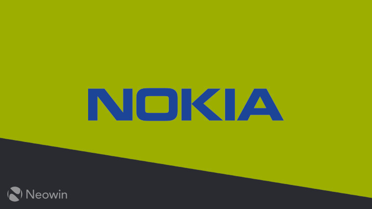 Nokia logo on a yellow and black background