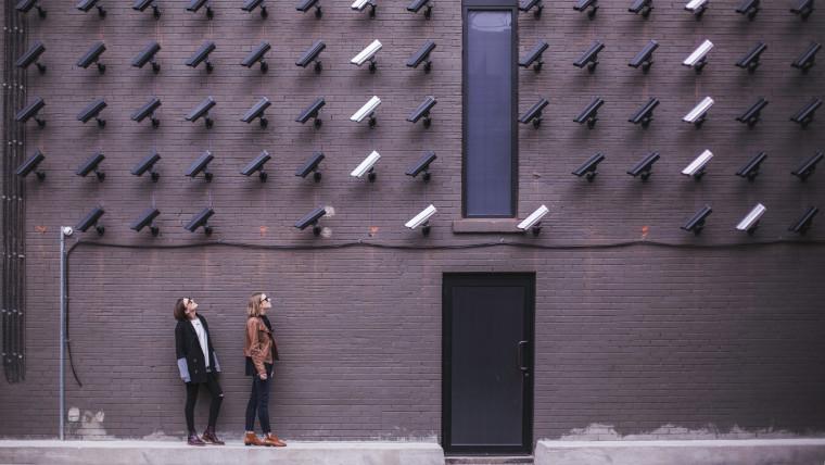 CCTV camera looking at people