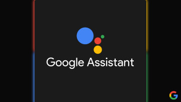 Google Assistant logo on a dark background