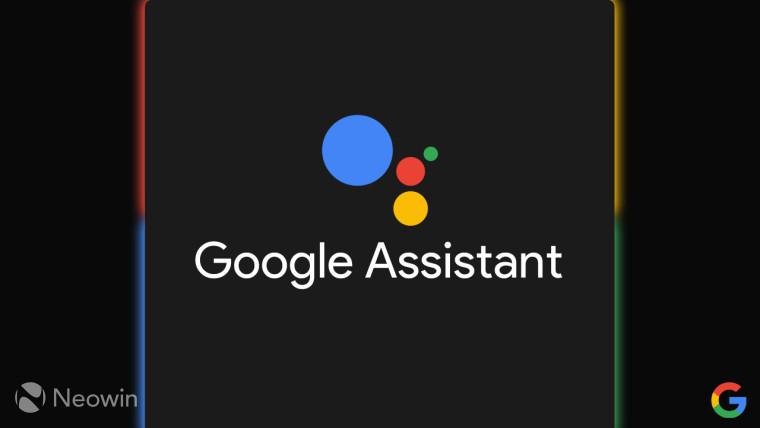 Google Assistant logo on a dark background