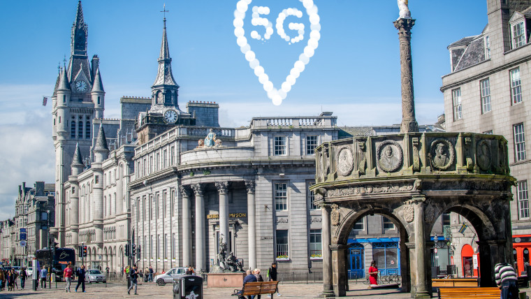 EE has switched on 5G in Aberdeen