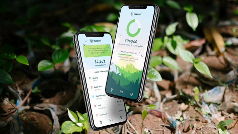 TreeCard will come with a mobile app to track spending and tree planting