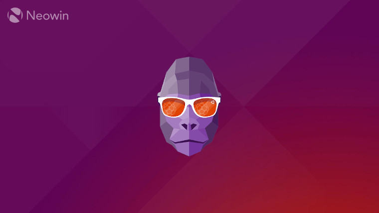 The Groovy Gorilla logo on an Ubuntu background