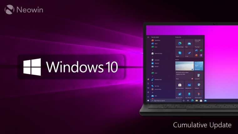 Windows 10 logo and laptop showing the Start Menu