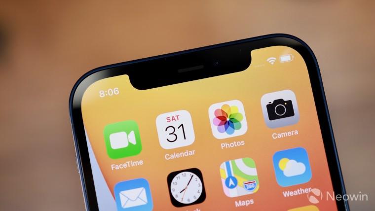 The iPhone homescreen