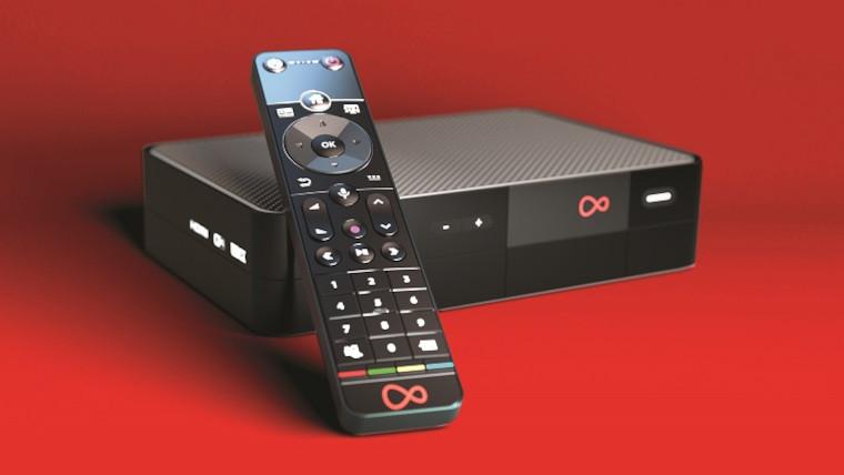 The new Virgin TV 360 Mini box and remote