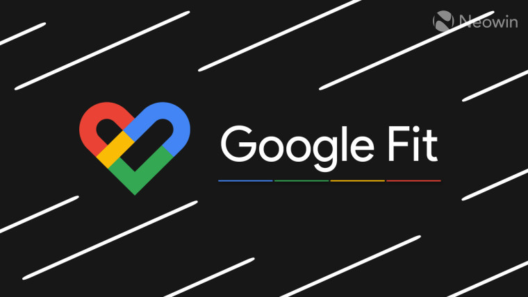 Google Fit logo and text on a black background