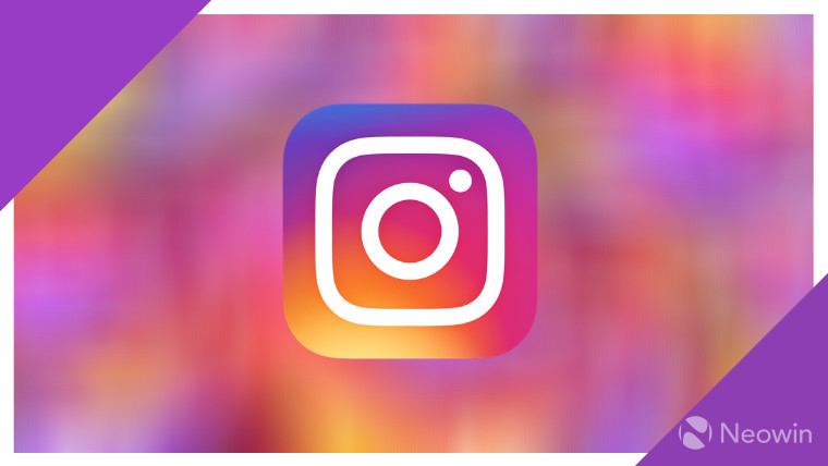 Instagram logo on a colorful background