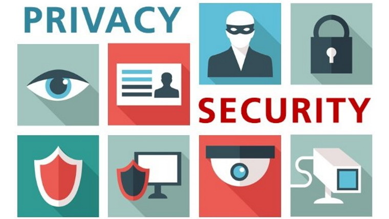 Icons showing privacy and security