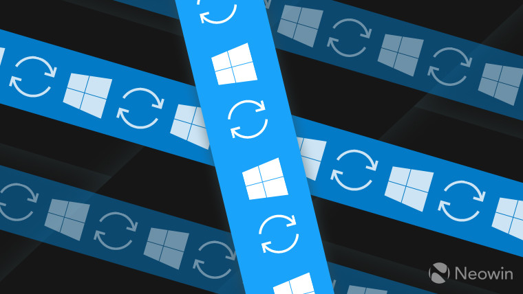 Multiple bars showing the Windows 10 logo with the refresh icon