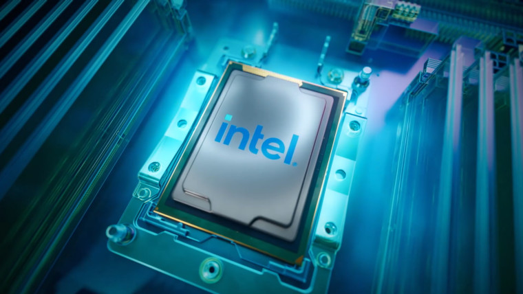 An Intel CPU is a PC motherboard with a bluish tinge
