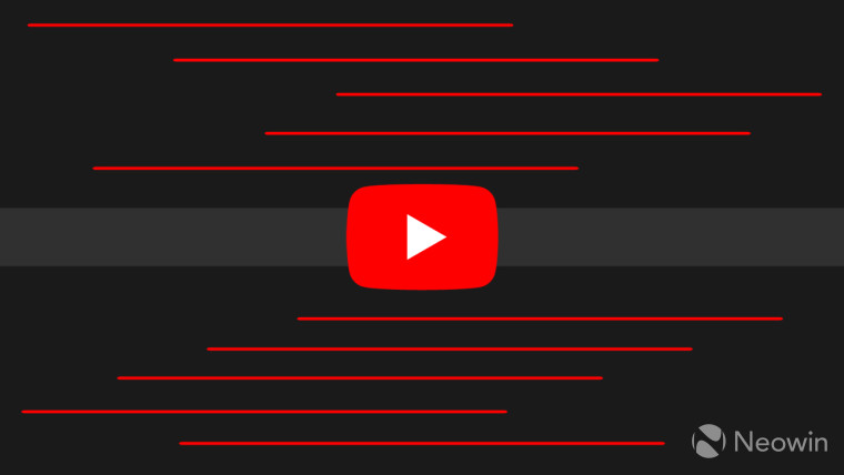 The YouTube logo on a black background