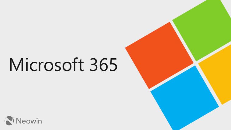 Microsoft 365 written next to the Microsoft logo