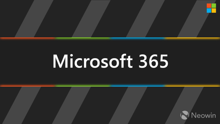 Microsoft 365 with the Microsoft logo colors around it
